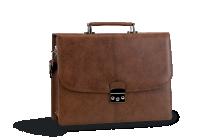 7abb8ead398 Бизнес чанта в кафяво от естествена кожа змийски ефект