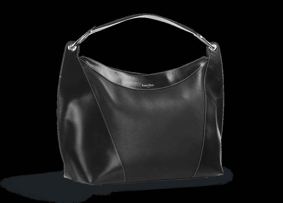 eb7dc01935c Дамска чанта в черно с една дръжка - Дамски обувки от естествена ...