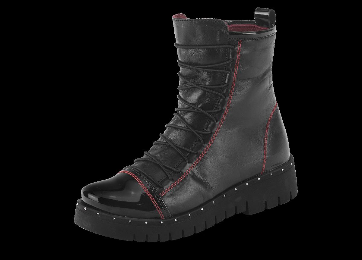 65b1aec0404 Детски боти червена напа - Дамски обувки от естествена кожа - Грация ...