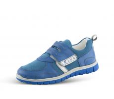 89e68ad5453 Детски спортни обувки в светло синя напа и велур