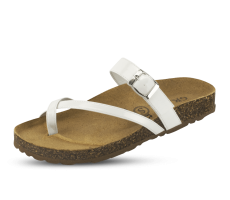 Ladies' slippers in white color