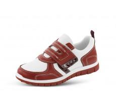 d4d0813fe5f Детски спортни обувки в бял и червен цвят